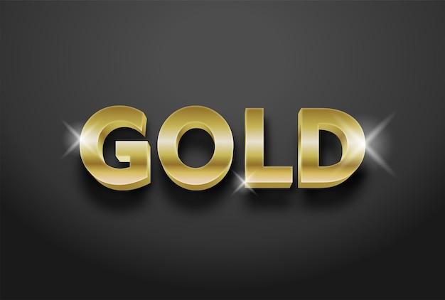 Редактируемый текстовый эффект 3d-золота