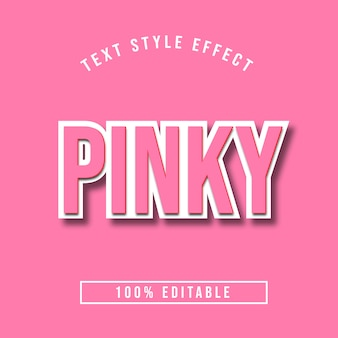 Editable 3d pinkbold text effect