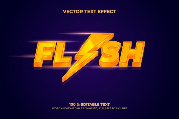 Редактируемый трехмерный текстовый эффект вспышки с оранжевым цветом и фиолетовым фоном вектор