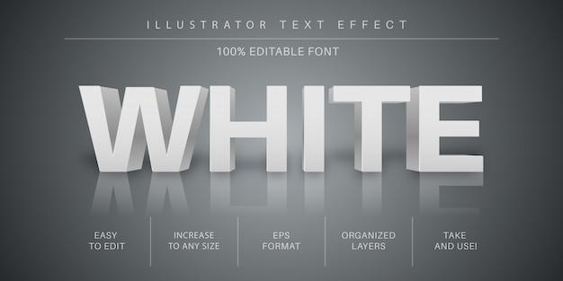 Editable 3d white text font