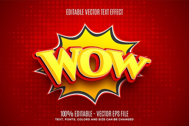 Editable 3d wow speech bubble text effect easy to change or edit