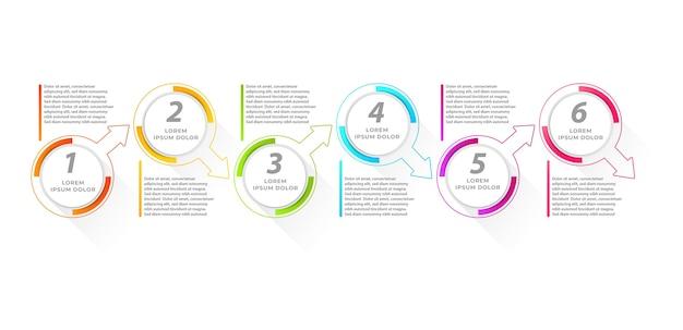 編集可能でカスタマイズ可能なインフォグラフィック要素テンプレートグラフチャートタイムラインプレゼンテーションワークフロー
