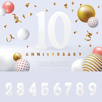 Editable anniversary banner template