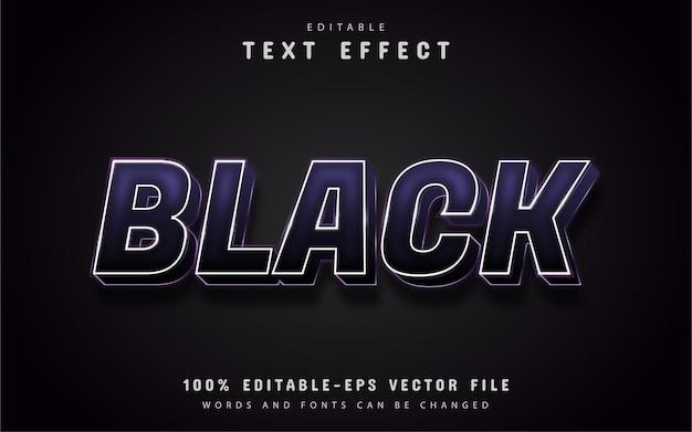편집 가능한 검은 색 3d 텍스트 효과