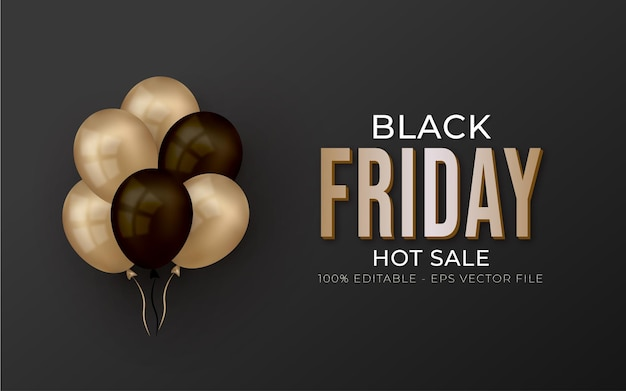 Editable black friday hot sale banner online shopping promotion