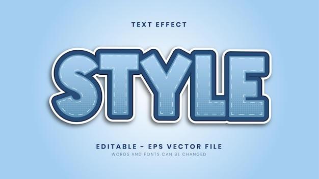 Editable blue trendy text effect