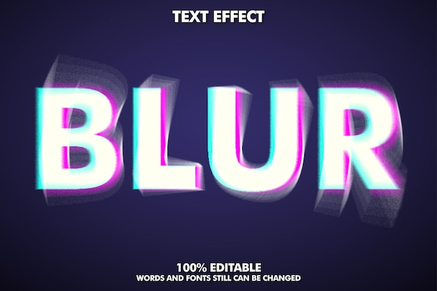 Editable blur text effect