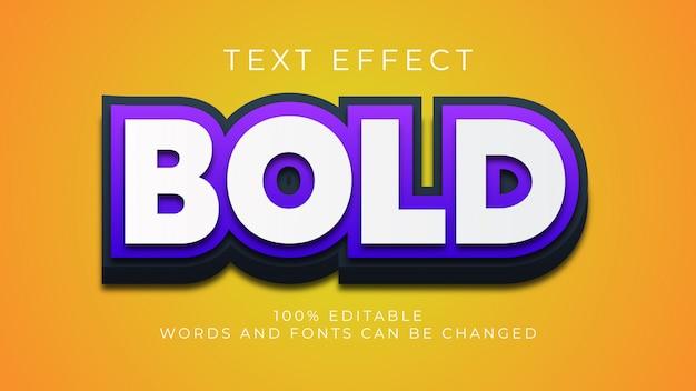 Editable bold 3d text effect