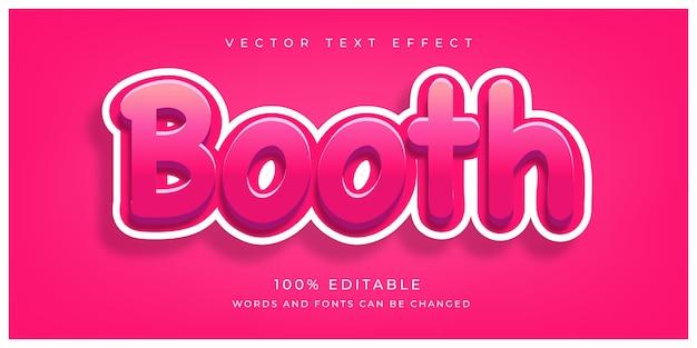 Editable booth text effect Premium Vector
