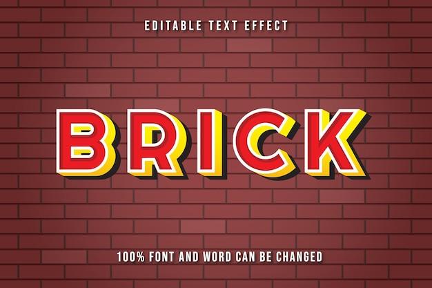 Редактируемый текстовый эффект в стиле кирпича