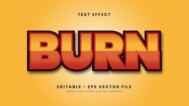 Editable burn slice style text effect