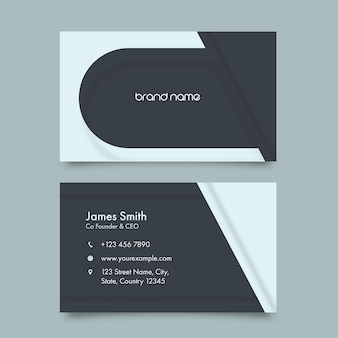 Editable business card template layout with double-side.