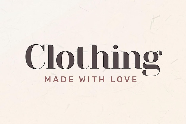 Editable business logo vector with clothing word