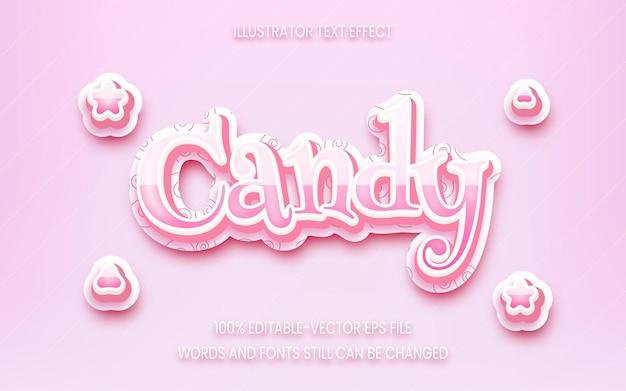 Редактируемый стиль текстового эффекта конфет