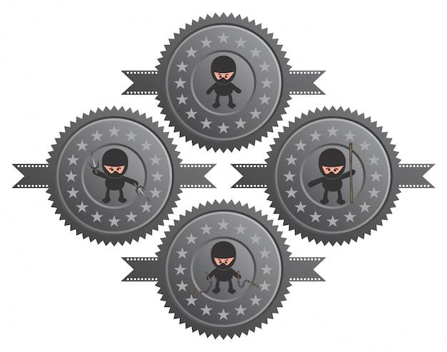Editable cartoon ninja