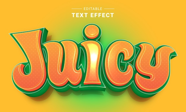 Editable cartoon text effect for illustrator