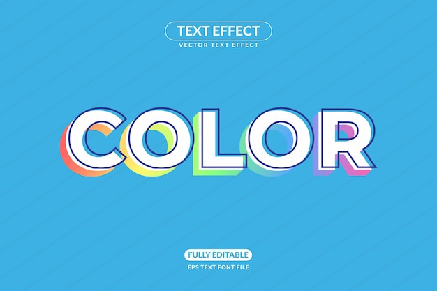 Editable cartoon unicorn color design text effect