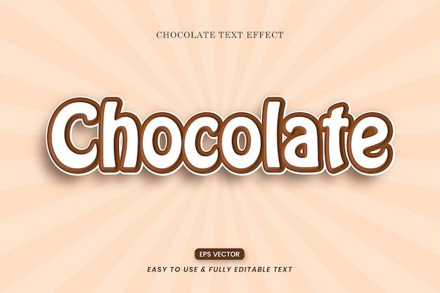 Редактируемые шоколадные современные текстовые эффекты
