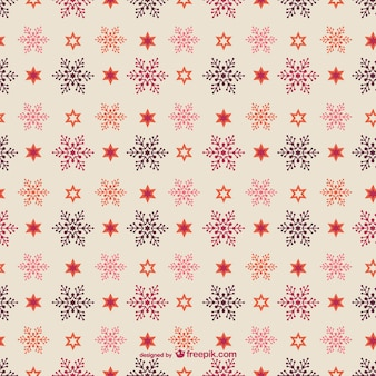 Editable christmas pattern with snowflakes