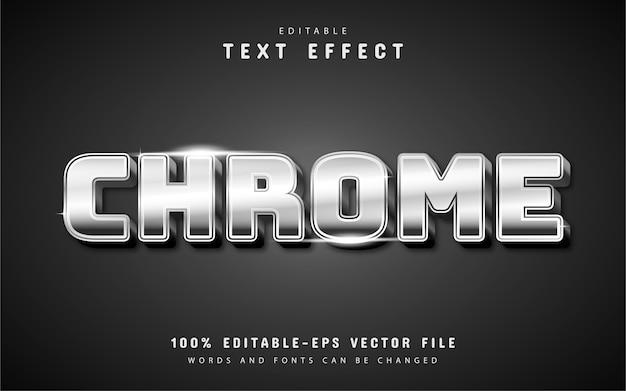 편집 가능한 chrome 텍스트 효과