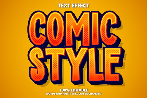 Editable comic style text effect