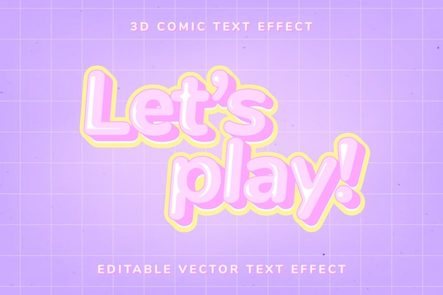 Editable comic text effect template
