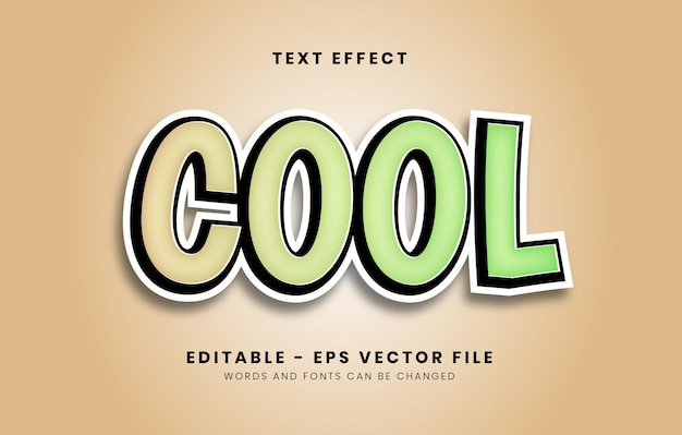 Editable cool text effect