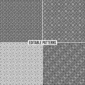 編集可能な装飾的なスタイリッシュなベクトルパターンの背景