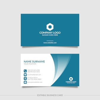 Editable elegant business card