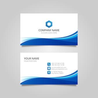 Editable elegant wavy business card