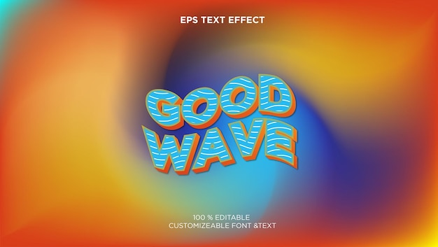 Editable eps text effect with abstract background