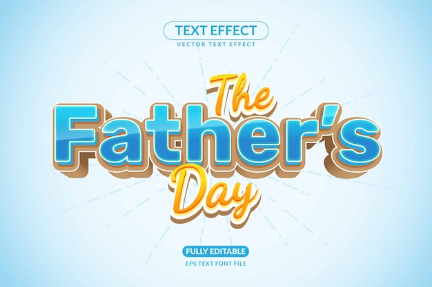 Editable family father moment days text effect