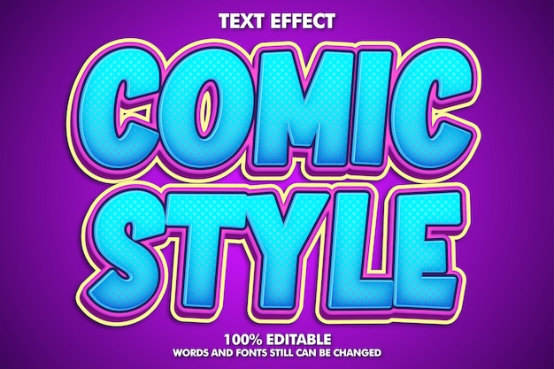 Editable fancy cartoon text effect