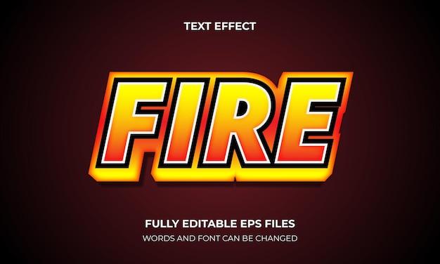 Editable ffire 3d text effect