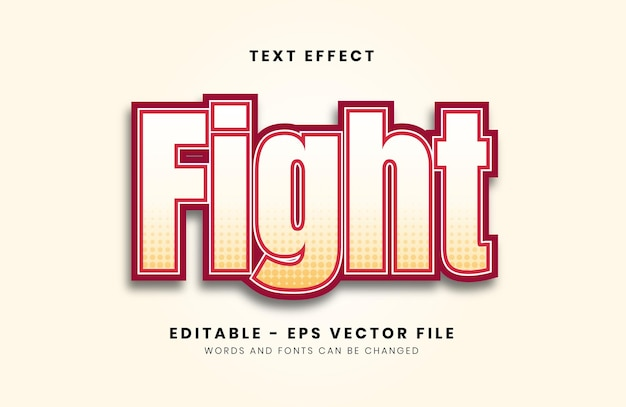 Editable fight text effect