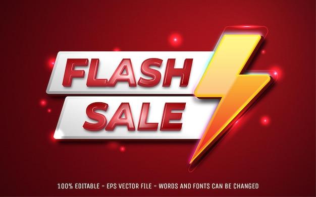 Editable flash sale modern 3d banner promotional template