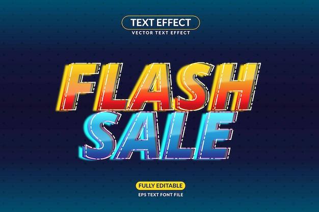 Editable flash sale text effect promotions