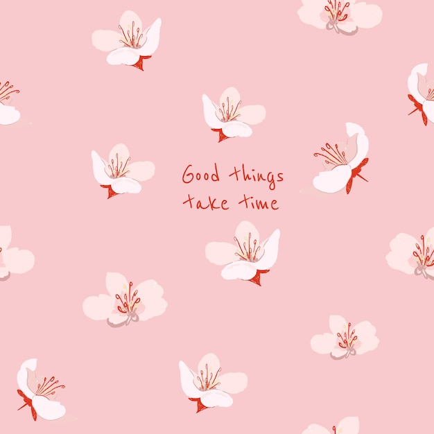 Editable floral aesthetic template for social media post with inspirational quote