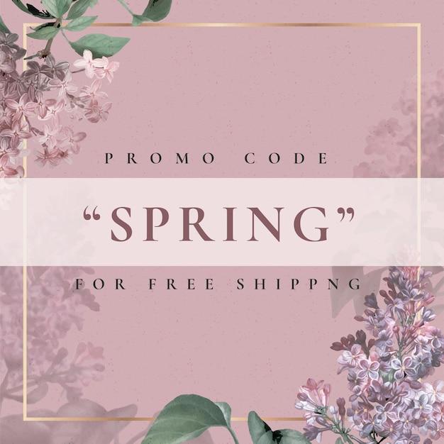 Modello di fiore modificabile per la vendita di primavera