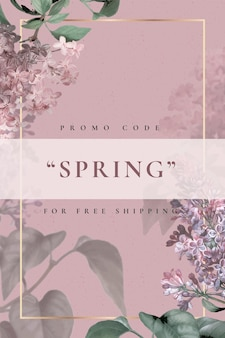 春の販売のための編集可能な花テンプレートベクトル