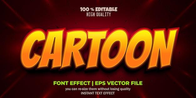 Редактируемый эффект шрифта мультяшный стиль текста