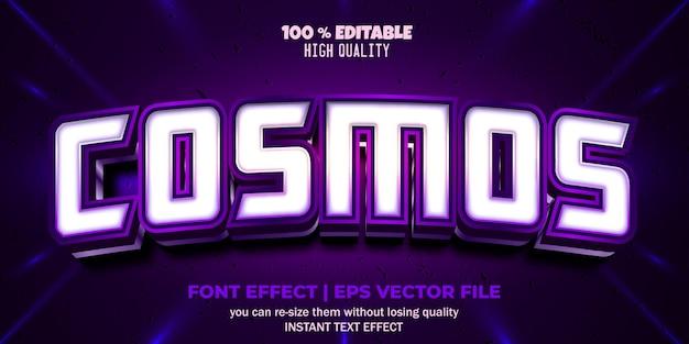 Редактируемый эффект шрифта стиль текста cosmos