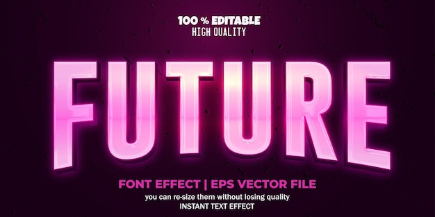 Editable font effect future text style