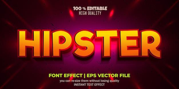 Редактируемый стиль текста в стиле хипстер с эффектом шрифта