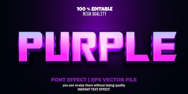 Редактируемый эффект шрифта фиолетовый стиль текста