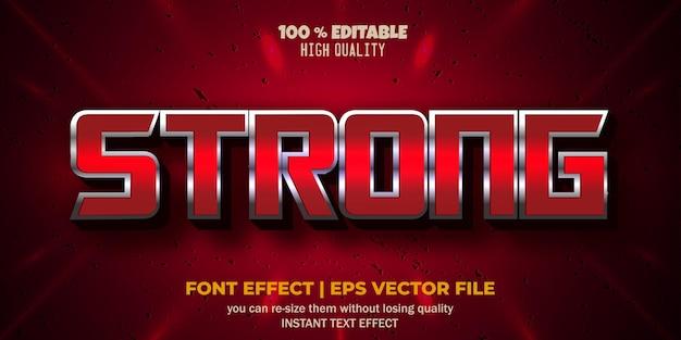 Редактируемый эффект шрифта, сильный стиль текста