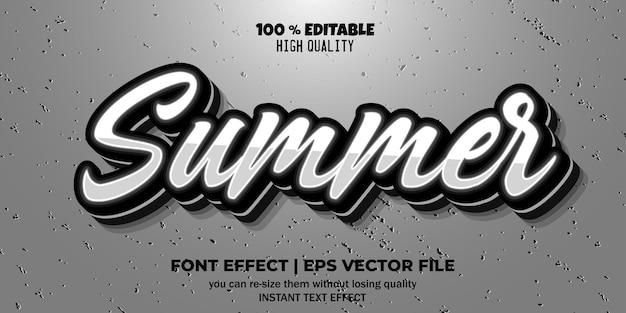 Редактируемый эффект шрифта летний стиль текста