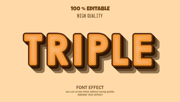 Редактируемый эффект шрифта, стиль текстового эффекта
