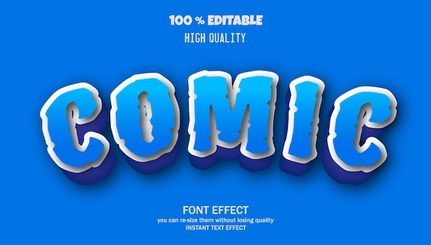 Editable font effect, text effect style