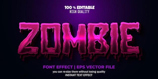 Редактируемый эффект шрифта стиль текста зомби